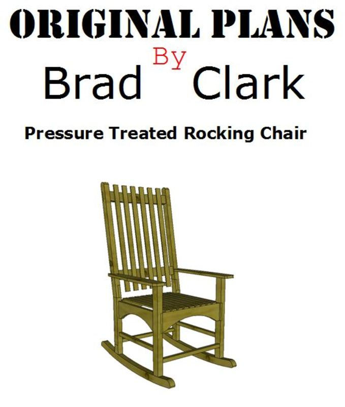 Cover page to free downloadable rocking chair plans