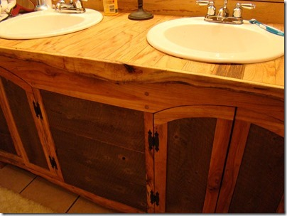 Bathroom Vanity Built With Rough Cut Sawmill Lumber Plan