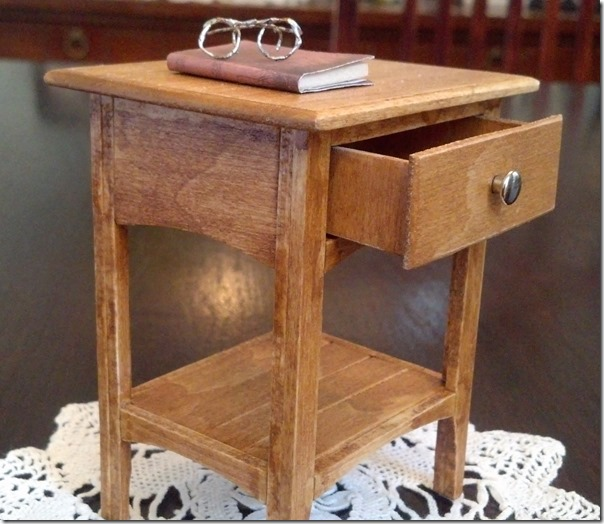 Miniature night stand 1 6 scale or playscale size plan for Nightstand plans