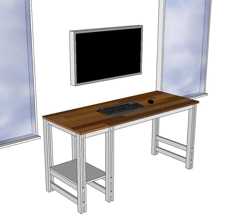 Single Sheet Plywood Desk