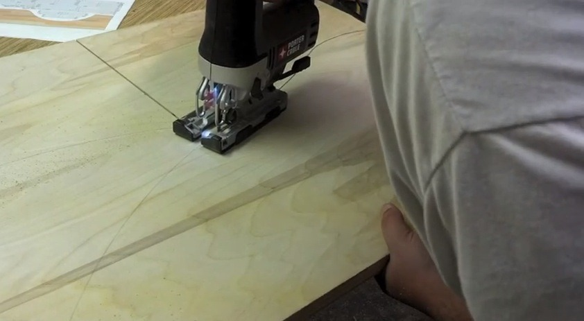 cutting out parts with a jigsaw
