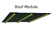 Sketchup drawing of roof module for modular deer stand