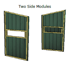 Sketchup drawing of the two side modules for the modular deer stand